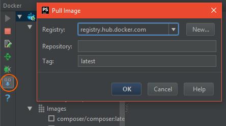 phpstorm-dockerhub