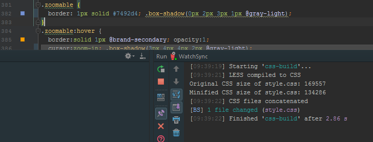 Or make a change here in PhpStorm...