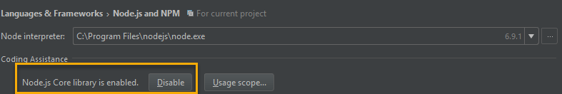 Enable NPM in Settings