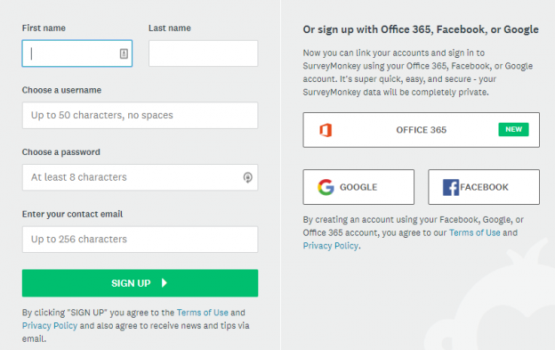 SSO signup
